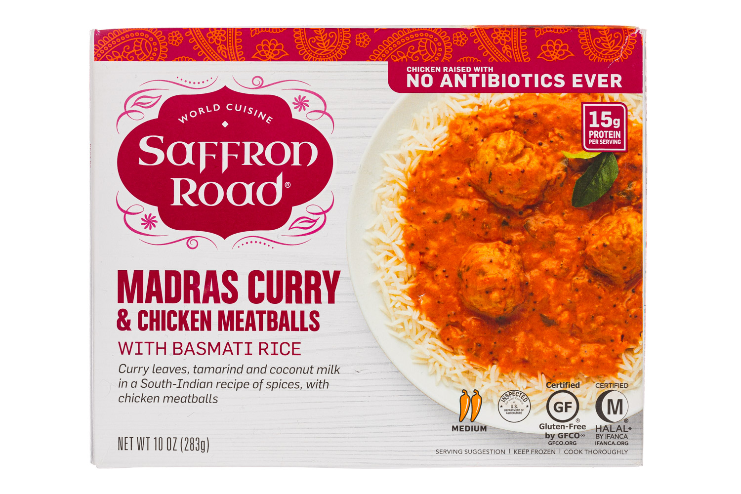 Madras Curry & Chicken Meatballs with Basmati Rice