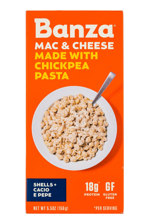Chickpea Pasta Mac & Cheese - Shells + Cacio E Pepe