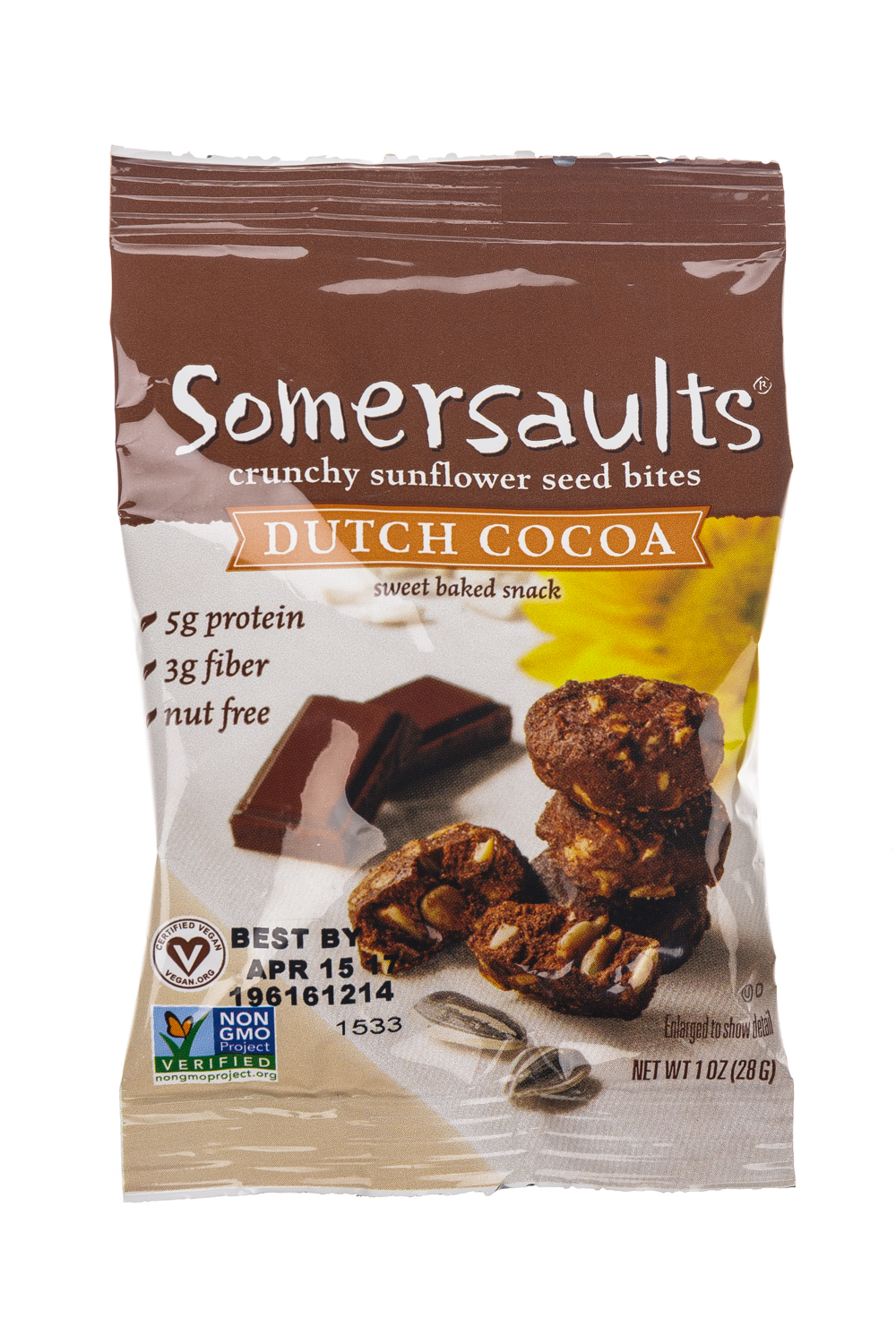 Crunchy Sunflower Seed Bites - Dutch Cocoa (6oz)